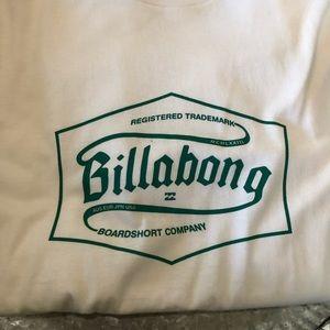 Billabong CoreFit White Logo T-Shirt NWOT